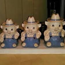 pig kitchen canisters best vintage pig canister set for sale in pensacola florida for 2017
