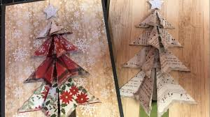 folded paper christmas tree tutorial youtube
