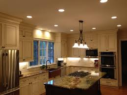 Stainless Steel Kitchen Lights Kitchen Led Recessed Lights With Marble Countertop
