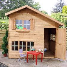 10 X 6 Shed Homebase by Mercia Kids 8x6 Double Storey Wooden Playhouse Kids Outdoor Play C