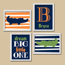 Navy And Green Nursery Decor Best Alligator Wall Decor Products On Wanelo