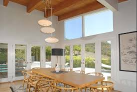 contemporary dining room with french doors u0026 high ceiling zillow