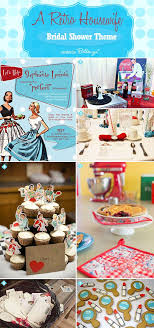 theme bridal shower decorations retro themed 1950s bridal shower decor and food ideas