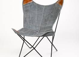 Butterfly Folding Chair Iron Butterfly Chair Industrial Furniture Raw Metal Finish