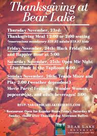 celebrate thanksgiving at lake reserve lake reserve