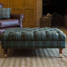 Plaid Ottoman Furniture Plaid Oversized Ottoman Coffee Table And Leather