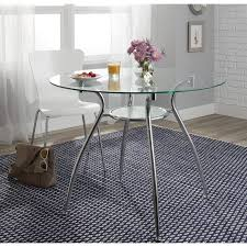 glass chrome dining table porch u0026 den third ward st paul tempered glass chrome round dining