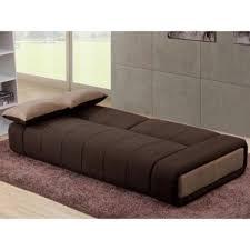 canapé 3 places pas cher canapé 3 places convertible en tissu somnus chocolat et beige
