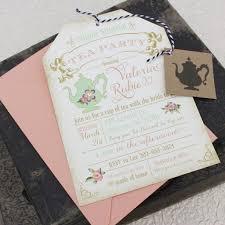 Tea Party Invitation Card Tea Party Bridal Shower Invitation Kawaiitheo Com
