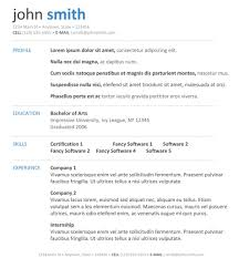 Clean Resume Template Word Word Document Resume Template Free Resume Template And