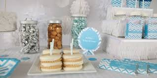 blue baby shower decorations chevron blue baby shower theme bigdotofhappiness