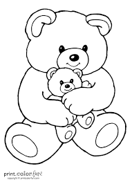 baby baby bear coloring pages