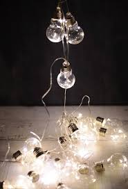 bulb led string lights 20ct 9ft clear cord