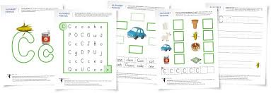 alphabet parade letter c worksheets and activity suggestions