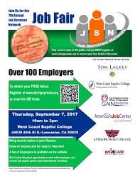 Job Fair Resume by 7th Annual Job Services Network Job Fair Employer Registration