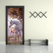 wall decal printer the forest unicorn door stickers self adhesive