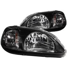 honda civic headlight amazon com anzo usa 121070 honda civic black headlight