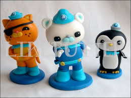 octonauts cake toppers edible fondant octonauts inspired cake toppers octonauts cake