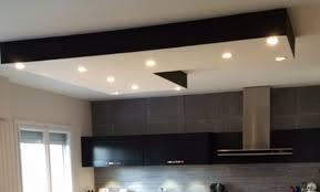 plafond suspendu cuisine décoration plafond lumineux cuisine 93 faux plafond