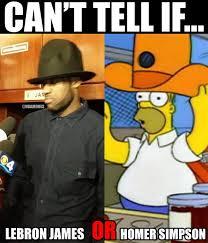 Pharrell Hat Meme - nba memes on twitter lebron james vs homer simpson hat http t