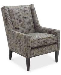 Velvet Accent Chair Arvello Printed Velvet Accent Chair Furniture Macy S