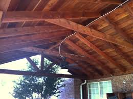 large backyard patio cover with ceiling fans van alstyne hundt