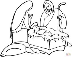 27 baby jesus manger coloring child jesus nativity scene