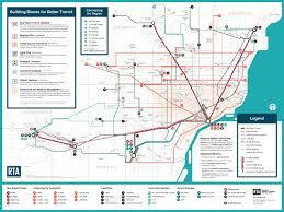 Road Map Of Michigan Rta Unveils Ambitious Public Transit Plan For Southeast Michigan