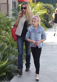 11 years old that has highlights at the bottom of their hair denise richards treats mini me daughter sam to highlights for her