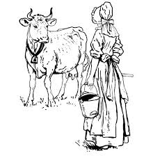 dutch lady want to milking her cow coloring pages dutch lady want