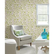 Green Interior Design Products by Nuwallpaper Grey And Green Sitting In A Tree Peel And Stick