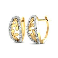 diamond earrings online ella floral diamond earrings buy floral style diamond earrings online