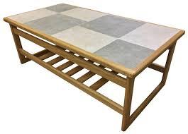 Slate Top Coffee Table Coffe Table Slate White Tile Top Large Coffee Table In Oak Coffe