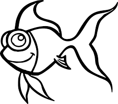 handsome cartoon fish coloring page sheet wecoloringpage