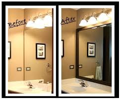 Framing Existing Bathroom Mirrors Framing An Existing Bathroom Mirror Bathroom Mirror With Frame