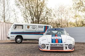 volkswagen vintage square body vintage porsche 934 5 and vw transporter martini twins set for