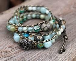 wrap bracelet tutorials images Leather and bead bracelet patterns jewelry jpg