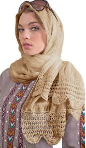 crochet wrap beige cotton large wrap scarf with crochet hijabs