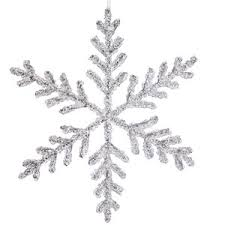 vco 12 icy silver glitter large snowflake