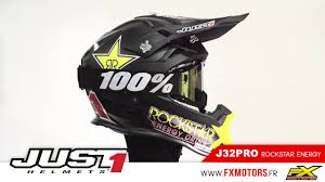 rockstar motocross gear casque cross just1 j32pro rockstar energy 2017 youtube