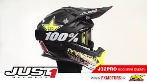 rockstar motocross helmet casque cross just1 j32pro rockstar energy 2017 youtube