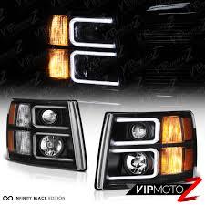 2007 Chevy Silverado Pics Neon Optic Tube 2007 2013 Chevy Silverado Black Projector Halo