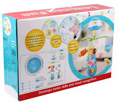 newest baby toys musical crib mobile with projection hanger view