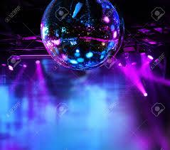 Light Night Club Colorful Disco Mirror Ball Lights Night Club Background Stock