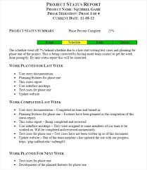 project monthly status report template sle project status report resume template sle