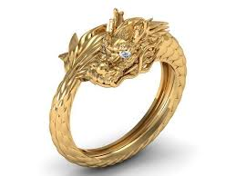 dragon rings gold images Dragon ring round 3d print model cgtrader jpg