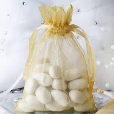 gold organza bags 4x6 organza drawstring bags gold 10 pack efavormart