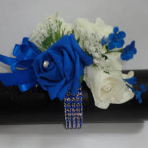 blue corsages for prom the floral touch uk prom corsage wrist corsages wrist