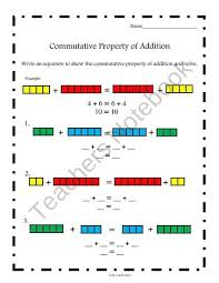 commutative property multiplication worksheets kelpies