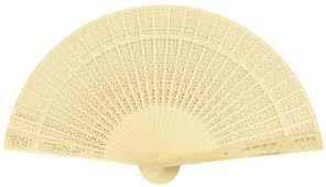 sandalwood fan 9 beige ivory sandalwood fan w beige organza bag 10